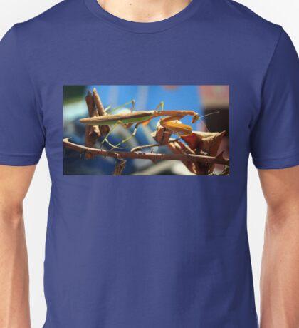 Praying Mantis on a Stick Unisex T-Shirt