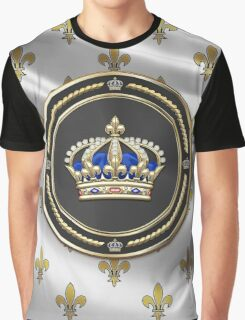 Royal Crown of France over Royal Standard  Graphic T-Shirt