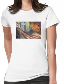 Light  Womens Fitted T-Shirt