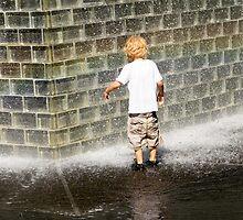 Fascination - Crown Fountain in Millennium Park. Chicago, Ill. by Mike Koenig