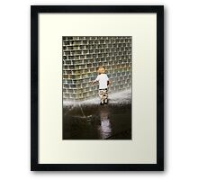 Fascination - Crown Fountain in Millennium Park. Chicago, Ill. Framed Print