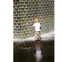 Fascination - Crown Fountain in Millennium Park. Chicago, Ill. Photographic Print