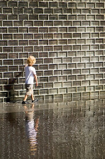 No Worries- Crown Fountain in Millennium Park. Chicago, Ill. by Mike Koenig