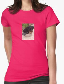 Rotts for Dinner? Womens Fitted T-Shirt