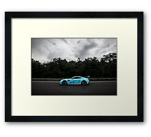 Aston Martin Vantage V12 on goldRush Rally Framed Print