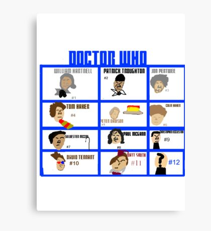 Doctor Who: 50 Years Through Time and Space Canvas Print