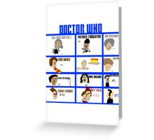 Doctor Who: 50 Years Through Time and Space Greeting Card