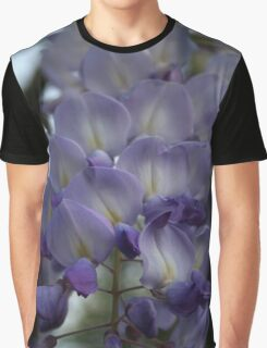Purple and Violet Wisteria Blossom Graphic T-Shirt