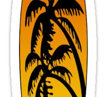 Surfboard Palm Trees (Sunset) Sticker