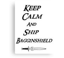 Keep calm and Ship Thilbo Canvas Print