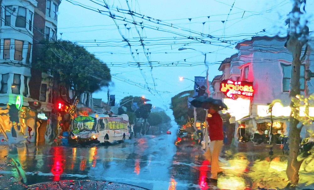 Fillmore in the Rain by David Denny