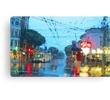 Fillmore in the Rain Canvas Print