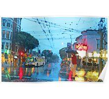 Fillmore in the Rain Poster