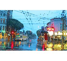 Fillmore in the Rain Photographic Print