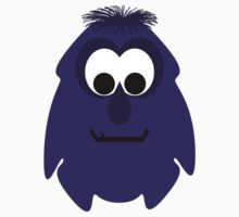 Silly Little Dark Purple Monster One Piece - Short Sleeve