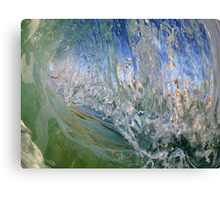 Collapse of a Textured Curtain  Canvas Print