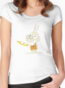 White Rabbit Women's Fitted Scoop T-Shirt