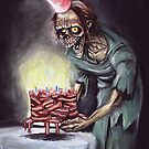 Zombie Bacon Birthday Card by Humerus