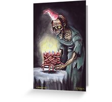 Zombie Bacon Birthday Card Greeting Card