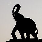 Elephant and Moon by umasguesthouse