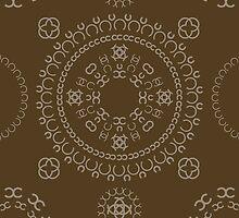 Monogram pattern (C) in Carafe by janna barrett