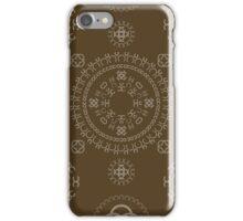 Monogram pattern (C) in Carafe iPhone Case/Skin