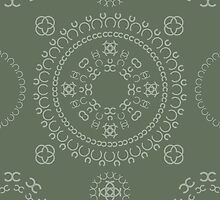 Monogram pattern (C) in Deep Lichen by janna barrett