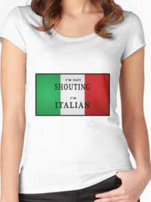 I'm ITALIAN Women's Fitted Scoop T-Shirt