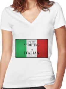 I'm ITALIAN Women's Fitted V-Neck T-Shirt