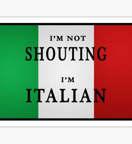 I'm ITALIAN Sticker