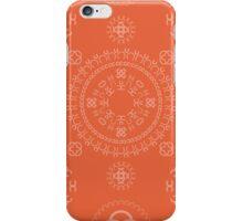 Monogram pattern (C) in Koi iPhone Case/Skin