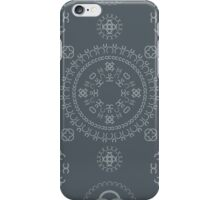 Monogram pattern (C) in Turbulence iPhone Case/Skin