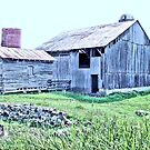 Nostalgic Old Barn ... the Back Side  (Pastelized) by © Bob Hall