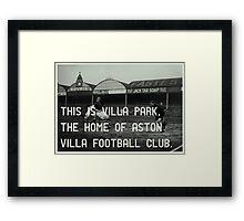 Aston Villa Football Club Framed Print