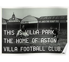 Aston Villa Football Club Poster