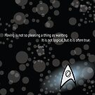 Spock Quote by Sydney Eller