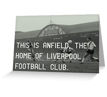 Liverpool Football Club Greeting Card