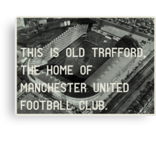 Manchester United Soccer Club Canvas Print