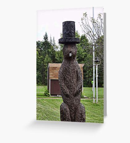 Groundhog statue Greeting Card