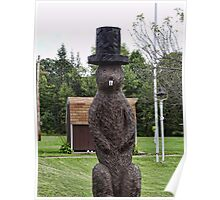 Groundhog statue Poster
