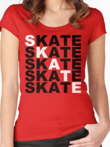 skate stacks Women's Fitted Scoop T-Shirt