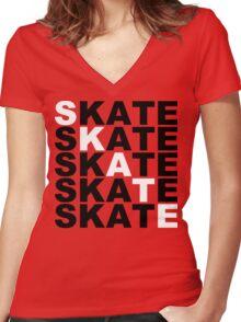 skate stacks Women's Fitted V-Neck T-Shirt