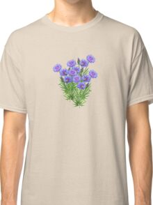 FLORAL ~ Cornflowers with Bees by tasmanianartist Classic T-Shirt