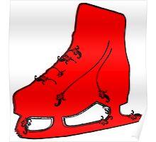 ice skate flourish Poster