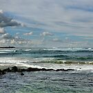 Nobby's Beach Panorama - Newcastle NSW Australia by Bev Woodman