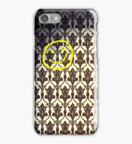 Smiley with Bullet Holes iPhone Case/Skin
