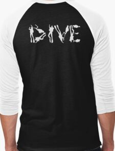 DIVE WITH DIVERS IN WHITE Men's Baseball ¾ T-Shirt