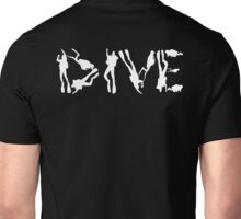 DIVE WITH DIVERS IN WHITE Unisex T-Shirt