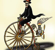 STEAMPUNK PENNY FARTHING by squigglemonkey