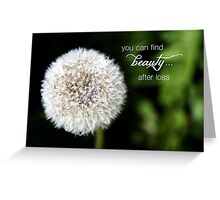 Dandelion – Beauty after Loss – 2:3   Greeting Card